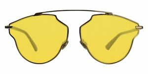 Christian Dior - Occhiale da Sole Unisex, Dior So Real Pop, Copper Gold Dark Havana/Yellow DDB