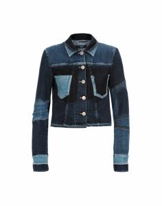 Giubbino jeans high blu lavato