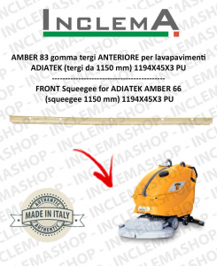 AMBER 83 gomma tergi ANTERIORE per lavapavimenti ADIATEK (tergi da 1150 mm)
