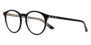 Christian Dior - Occhiale da Vista Donna, Dior Montaigne 15 Black Crystal Gold MVL