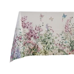 Tovaglia RANDI in cotone x12 persone 150x240 cm FLORAL stampa digitale