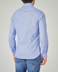 Camicia azzurra micro-armaturata