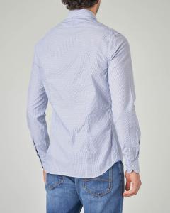 Camicia azzurra a righette e puntino