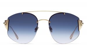 Christian Dior - Occhiale da Sole Donna, Dior Stronger, Gold/Blue Shaded 000/NE