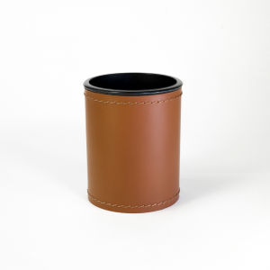 Pen Pot Orfeo Orange Brown