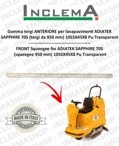 SAPPHIRE 70s gomma tergi ANTERIORE per lavapavimenti ADIATEK (tergi da 950 mm)