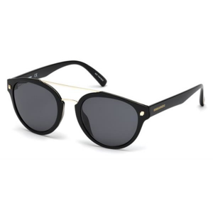 Dsquared2 - Occhiale da Sole Unisex, Dsquared2 Clode DQ, Black/Grey 0255 01A R