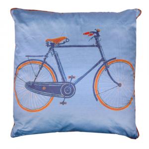 Trussardi Velodromo 60x60 cushion in light blue cotton satin