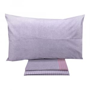 Set lenzuola piazza e mezza puro cotone Vallesusa Confident grigio