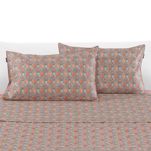 Set lenzuola matrimoniale 2 piazze ZUCCHI Collection MANZONI 1 arancione