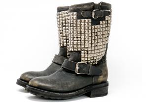 Biker Trash sw Antic con borchie argentate  – ASH Mexican Boots