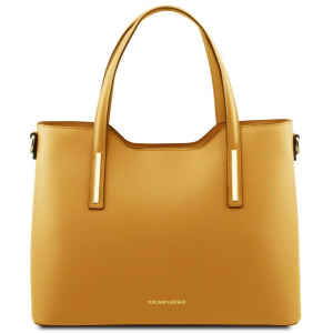 Tuscany Leather TL141412 Olimpia - Borsa shopping in pelle Senape