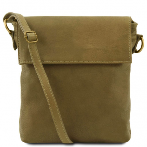 Tuscany Leather TL141511 Morgan - Borsa a tracolla in pelle Verde Oliva