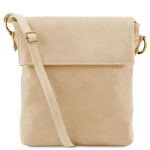 Tuscany Leather TL141511 Morgan - Borsa a tracolla in pelle Beige