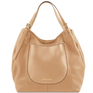 Tuscany Leather TL141515 Cinzia - Borsa shopping in pelle morbida Champagne