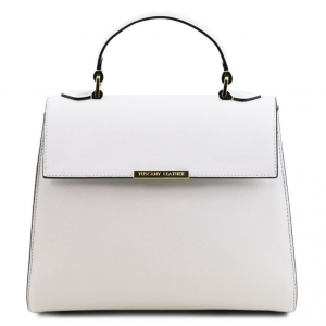 Tuscany Leather TL141628 TL Bag  - Bauletto piccolo in pelle Saffiano Bianco