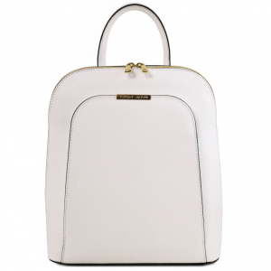 Tuscany Leather TL141631 TL Bag - Zaino donna in pelle Saffiano Bianco