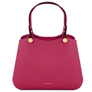Tuscany Leather TL141684 Anna - Borsa a mano in pelle Magenta
