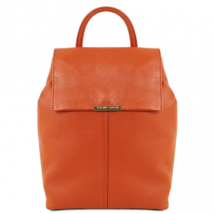 Tuscany Leather TL141706 TL Bag - Zaino donna in pelle morbida Brandy