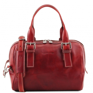 Tuscany Leather TL141714 Eveline - Bauletto in pelle Rosso