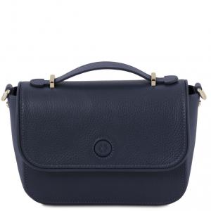 Tuscany Leather TL141725 Primula - Pochette in pelle Blu scuro