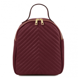 Tuscany Leather TL141737 TL Bag - Zaino donna in pelle Bordeaux