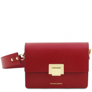 Tuscany Leather TL141742 Adele - Pochette in pelle Rosso