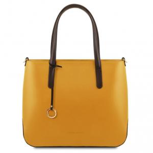 Tuscany Leather TL141791 Penelope - Borsa shopping in pelle Senape