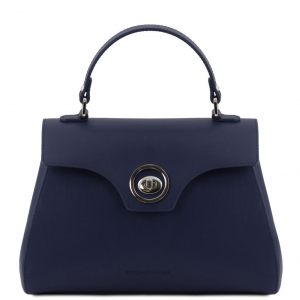 Tuscany Leather TL141824 TL Bag - Bauletto in pelle Blu scuro