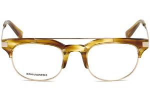 Dsquared2 - Occhiale da Vista Donna, Dsquared2 DQ, Blonde Havana Gold 5210 C48