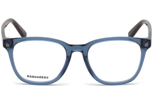 Dsquared2 - Occhiale da Vista Unisex, Dsquared2 DQ, Shiny Blue 5228 C49 090