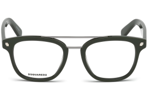 Dsquared2 - Occhiale da Vista Unisex, Dsquared2 DQ, Shiny Dark Green 5232 C50 096