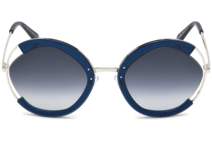 Emilio Pucci - Occhiale da Sole Donna, Shiny Blue Shaded EP0073 90W D