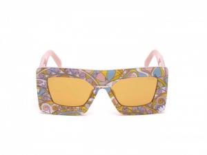 Emilio Pucci - Occhiale da Sole Donna, Shiny Yellow/Brown EP0095 039E C55