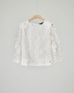 Blusa bianca ricamata
