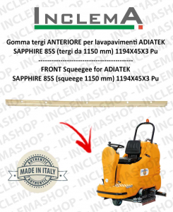 Gomma tergi ANTERIORE per lavapavimenti ADIATEK SAPPHIRE 85S (tergi da 1150 mm)