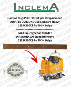 Gomma tergi POSTERIORE per lavapavimenti ADIATEK DIAMOND 100 Standard Heavy