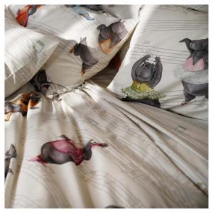 Doppelter Bettbezug-Set TESSITURA TOSCANA Ippopami-Fett