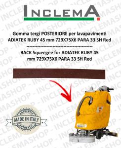 Gomma tergi POSTERIORE (optional) per lavapavimenti ADIATEK RUBY 45