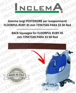Gomma tergi POSTERIORE (optional) per lavapavimenti FLOORPUL RUBY 45