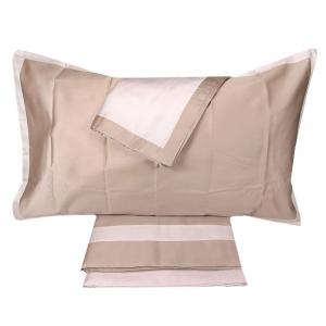 Set lenzuola matrimoniale 2 piazze PIAZZA PITTI ARIEL in raso caramello bicolor