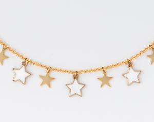 Collana girocollo con ciondoli stelle
