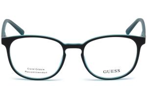 Guess - Occhiale da Vista Unisex, Matte Black/Shiny Blue GU 3009 005 C49