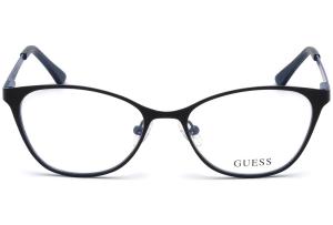 Guess - Occhiale da Vista Donna, Eye Candy, Matte Black/Blu GU 3010 002 C51