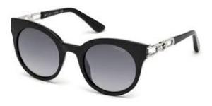 Guess - Occhiale da Sole Donna, Black/Grey Shaded GU 7537-S 05B C50