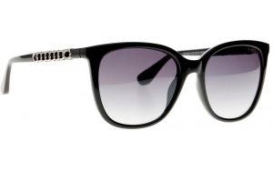 Guess - Occhiale da Sole Donna, Shiny Black/Grey Shaded GU 7545-S 01B C54
