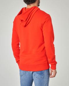 Felpa rossa con zip e cappuccio