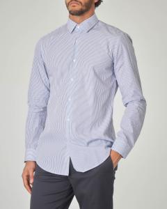 Camicia Isko bianca con trattino blu