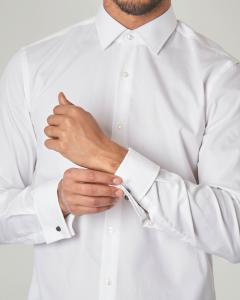 Camicia bianca Jacques con polso gemelli