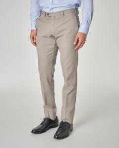 Pantalone chino tortora